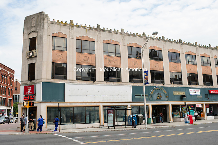 WATERBURY, CT- 23 June 2016-062316EC06-   The Brown Building, in downtown Waterbury, will be redeveloped into UCONN student dorms. Developers hope to have it renovated by next fall. Erin Covey Republican-American