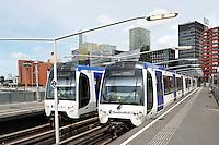 Nederland Rotterdam 2016 . Randstadrail bij station Rijnhaven.  Foto Berlinda van Dam / Hollandse Hoogte