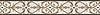 "6"" Alexander border, a hand-cut mosaic shown in polished Calacatta Tia, honed Gascogne Blue, Jura Grey, Jura Beige, and Montevideo by New Ravenna."