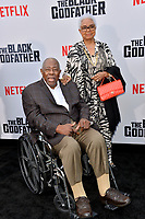 "LOS ANGELES, USA. June 04, 2019: Hank Aaron & Billye Aaron at the premiere for ""The Black Godfather"" at Paramount Theatre.<br /> Picture: Paul Smith/Featureflash"