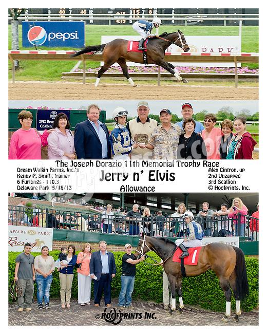Jerry n' Elvis winning at Delaware Park on 5/18/13