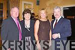 ANNUAL DINNER: Michael and Margaret Marshall, Ballymac and Marian and Michael Fitzgerald enjoying the Kerry Supporters Club annual dinner at the Ballygarry House hotel and Spa on Saturday.