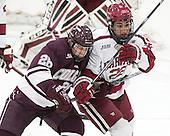 Evan Peterson (Colgate - 26), Devin Tringale (Harvard - 22) - The Harvard University Crimson defeated the visiting Colgate University Raiders 7-4 (EN) on Saturday, February 20, 2016, at Bright-Landry Hockey Center in Boston, Massachusetts,