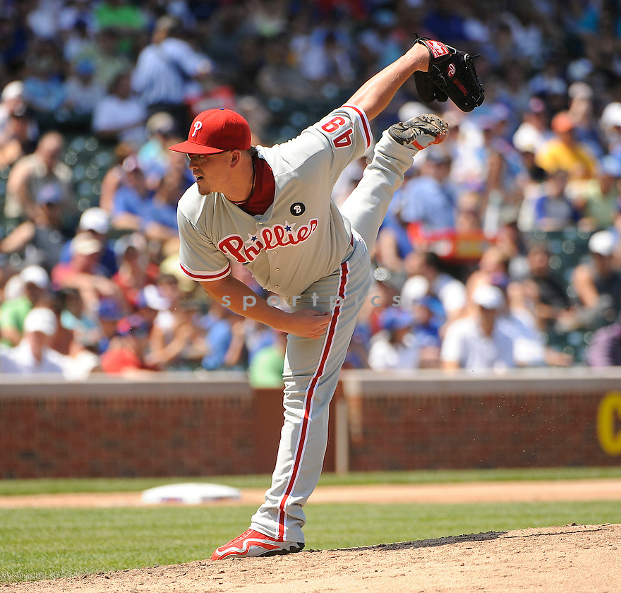 VANCE WORLEY, of the Philadelphia Phillies, in action during the Phillies game against the Chicago Cubs on July 20, 2011 at Wrigley Field in Chicago, Illinois. The Phillies beat the Cubs 9-1.