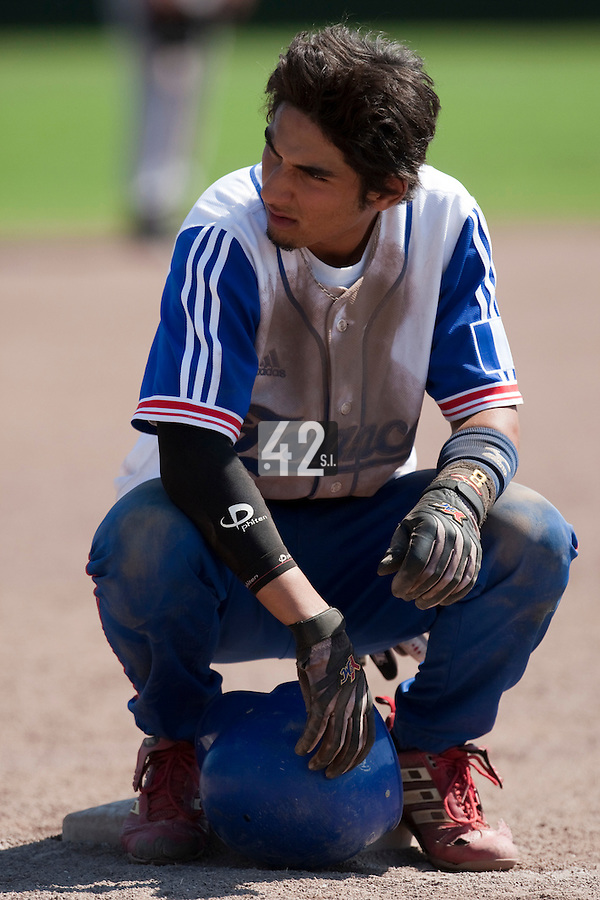 Baseball - 2009 European Championship Juniors (under 18 years old) - Bonn (Germany) - 05/08/2009 - Day 3 - Thomas Medina (France)