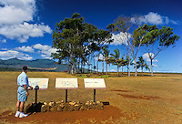 The Kukaniloko Birthing Stones is a place where the Hawaiian royalty (Alii) gave birth.  Located amidst the open pineapple fields of central oahu.