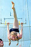 East Meadow, New York, U.S.  27th June 2013. ELANA KURLANDER of Planview, is a student at I Fly trapeze school, at Eisenhower Park.