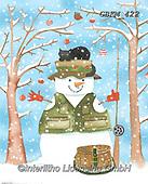 Kate, CHRISTMAS SANTA, SNOWMAN, WEIHNACHTSMÄNNER, SCHNEEMÄNNER, PAPÁ NOEL, MUÑECOS DE NIEVE, paintings+++++Snow fisherman,GBKM422,#x#