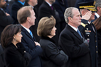 Members of the Bush family, including Former First Lady Laura Bush and President George W. Bush, look on as the remains of President George H.W. Bush are transported from the U.S. Capitol to the National Cathedral Wednesday December 5, 2018. <br /> Credit: Sarah Silbiger / Pool via CNP / MediaPunch