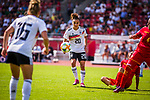 31.08.2019, Auestadion, Kassel, GER, DFB Frauen, EM Qualifikation, Deutschland vs Montenegro , DFB REGULATIONS PROHIBIT ANY USE OF PHOTOGRAPHS AS IMAGE SEQUENCES AND/OR QUASI-VIDEO<br /> <br /> im Bild | picture shows:<br /> Einzelaktion Lina Magull (DFB Frauen #20), <br /> <br /> Foto © nordphoto / Rauch