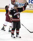 Jimmy Hayes (BC - 10), Kyle Kraemer (NU - 16) - The Boston College Eagles defeated the Northeastern University Huskies 5-1 on Saturday, November 7, 2009, at Conte Forum in Chestnut Hill, Massachusetts.