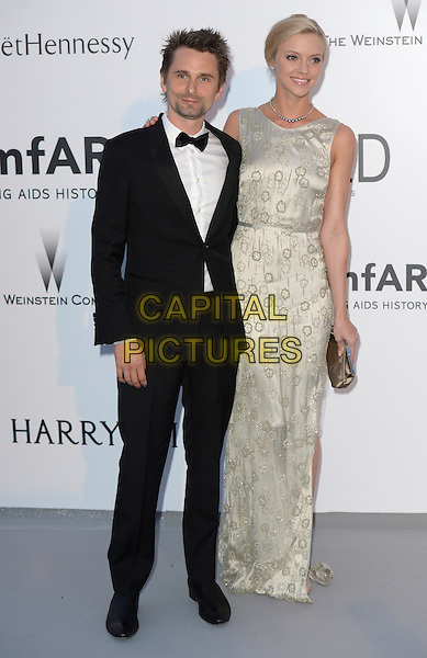 Matt Bellamy, Elle Evans - arrivals at amfAR&rsquo;s Cinema Agains Aids Gala at Hotel du Cap, Antibes during the Cannes Film Festival on May 21, 2015 in Cap d'Antibes, France.<br /> CAP/CAS<br /> &copy;Bob Cass/Capital Pictures