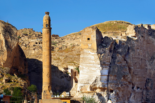 Ayyubid El Rizk Mosque ancinet citadel & Artukid Little Palace of Hasankeyf– The Mosque was built in 1409 by the Ayyubid sultan Süleyman and stands on the bank of the Tigris River. It has Kufic incriptions & decorations. Turkey 1