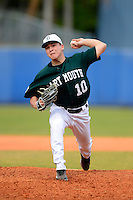 Dartmouth Big Green pitcher Kyle Hunter (10) during a game against the University of Alabama at Birmingham Blazers at Chain of Lakes Stadium on March 17, 2013 in Winter Haven, Florida.  Dartmouth defeated UAB 4-0.  (Mike Janes/Four Seam Images)