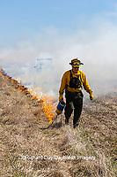 63863-02806 Prescribed Burn by IDNR Prairie Ridge State Natural Area Marion Co. IL