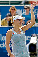 April 11, 2010:  MPS Group Championships.   Caroline Wozniacki (DEN) waives to the crowd after winning the finals singles action at the MPS Group Championships played at the Sawgrass Country Club in Ponte Vedra, Florida.  Caroline Wozniacki (DEN) defeated Olga Govortsova (BLR) 6-2, 7-5 to win the tournament for the second consecutive year..