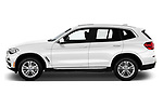 Car driver side profile view of a 2019 BMW X3 Base 5 Door SUV