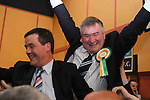 Sitting Fine Fail TD Johnny Brady celebrating his election with Noel Dempsey after the second count at The Counting Station, Navan...Photo NEWSFILE/Jenny Matthews.(Photo credit should read Jenny Matthews/NEWSFILE)....This Picture has been sent you under the condtions enclosed by:.Newsfile Ltd..The Studio,.Millmount Abbey,.Drogheda,.Co Meath..Ireland..Tel: +353(0)41-9871240.Fax: +353(0)41-9871260.GSM: +353(0)86-2500958.email: pictures@newsfile.ie.www.newsfile.ie.FTP: 193.120.102.198.