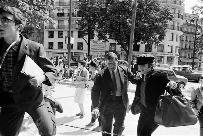 The Beatles, John Lennon, at King George V Hotel near the Champs Elysées, Paris, France, June, 1965