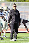 Torrance, CA 10/06/11 - Coach Esparza  in action during the Peninsula vs South Torrance Frosh football game.