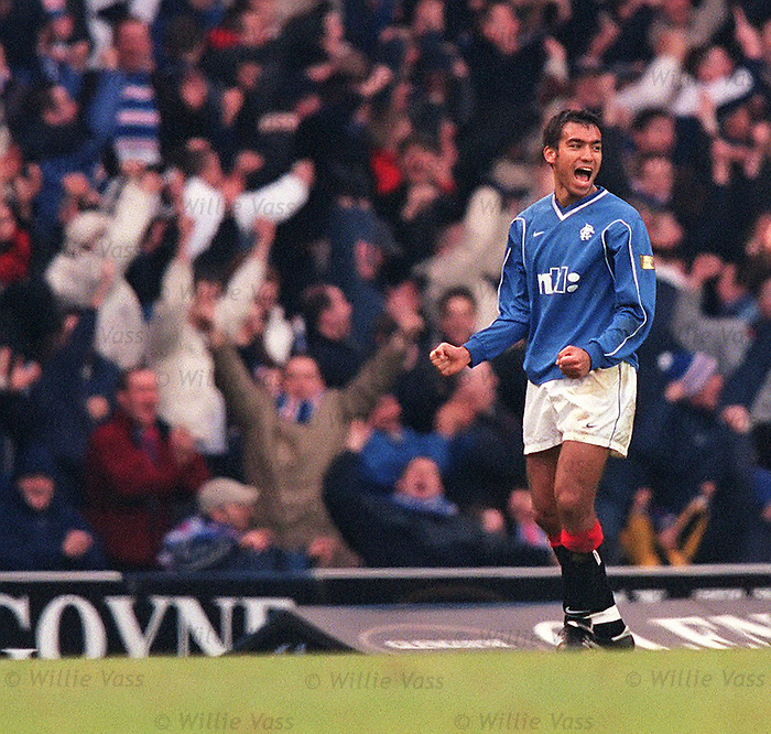 Giovanni van Bronckhorst, Rangers season 1999 goal celebration