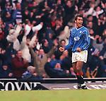 Giovanni van Bronckhorst, Rangers season 1999 goal celebration