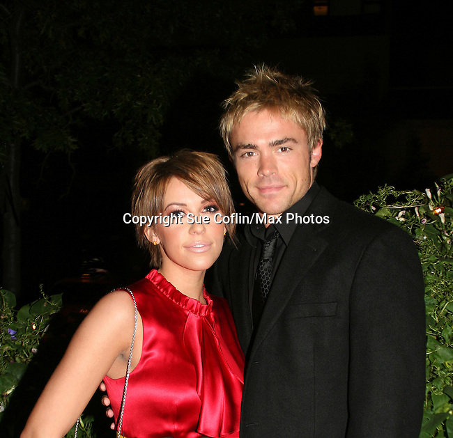 One Life To Live's Farah Fath and John Paul Lavoisier at the ABC Daytime Casino Night on October 23, 2008 at Guastavinos, New York CIty, New York. (Photo by Sue Coflin/Max Photos)