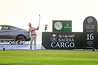 Brandon Stone (RSA) on the 16th tee during the 1st round of  the Saudi International powered by Softbank Investment Advisers, Royal Greens G&CC, King Abdullah Economic City,  Saudi Arabia. 30/01/2020<br /> Picture: Golffile | Fran Caffrey<br /> <br /> <br /> All photo usage must carry mandatory copyright credit (© Golffile | Fran Caffrey)