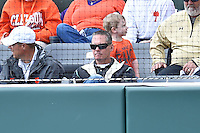 Hall of Famer Craig Biggio in the crowd during a game against the Clemson Tigers during game one of a double headers at Doug Kingsmore Stadium March 14, 2015 in Clemson, South Carolina. The Tigers defeated the Fighting Irish 6-1. (Tony Farlow/Four Seam Images)