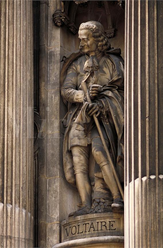 Statue of Voltaire, Paris, France. Paris, France.