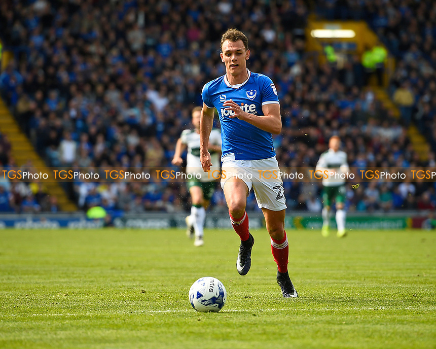 Kal Naismith of Portsmouthduring Portsmouth vs Plymouth Argyle, Sky Bet EFL League 2 Football at Fratton Park on 14th April 2017