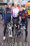 Canice Walsh, Tom Brendan O'Connor and Colin Lacey of the Chain Gang Cycling club who took part in the Lacey Cup Cycle on Sunday morning.