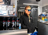 Oct 14, 2019; Concord, NC, USA; NHRA top fuel driver Leah Pritchett during the Carolina Nationals at zMax Dragway. Mandatory Credit: Mark J. Rebilas-USA TODAY Sports