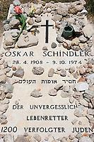 Asie/Israël/Judée/Jérusalem:Tombe de Oskar Schindler à Jérusalem