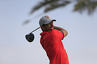 Jamie Elson (ENG) on the 6th tee during the 1st round of  the Saudi International powered by Softbank Investment Advisers, Royal Greens G&CC, King Abdullah Economic City,  Saudi Arabia. 30/01/2020<br /> Picture: Golffile | Fran Caffrey<br /> <br /> <br /> All photo usage must carry mandatory copyright credit (© Golffile | Fran Caffrey)