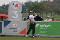 Byeonghun An (Asia) on the 3rd tee during the Saturday Foursomes of the Eurasia Cup at Glenmarie Golf and Country Club on the 13th January 2018.<br /> Picture:  Thos Caffrey / www.golffile.ie