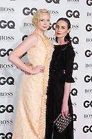 Gwendoline Christie and Erin O'Connor arrive for the GQ Men Of The Year Awards 2016 at the Tate Modern, London