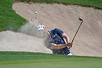 Martin Kaymer (GER) hits from the trap on 15 during day 2 of the Valero Texas Open, at the TPC San Antonio Oaks Course, San Antonio, Texas, USA. 4/5/2019.<br /> Picture: Golffile | Ken Murray<br /> <br /> <br /> All photo usage must carry mandatory copyright credit (&copy; Golffile | Ken Murray)