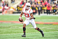 College Park, MD - NOV 26, 2016: Rutgers Scarlet Knights wide receiver Dacoven Bailey (23) in action during game between Maryland and Rutgers at Capital One Field at Maryland Stadium in College Park, MD. Maryland defeated Rutgers 31-13. (Photo by Phil Peters/Media Images International)
