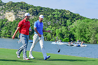 Jon Rahm (ESP) and Dustin Johnson (USA) make their way down 14 during round 7 of the World Golf Championships, Dell Technologies Match Play, Austin Country Club, Austin, Texas, USA. 3/26/2017.<br /> Picture: Golffile | Ken Murray<br /> <br /> <br /> All photo usage must carry mandatory copyright credit (&copy; Golffile | Ken Murray)