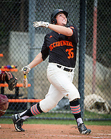 (Photo by Kirby Lee, Freelance)<br /> Occidental College baseball team takes on Claremont-Mudd-Scripps in their second game on March 5, 2015 on Anderson Field. Oxy won 9-7.<br /> (Photo by Kirby Lee, Freelance)