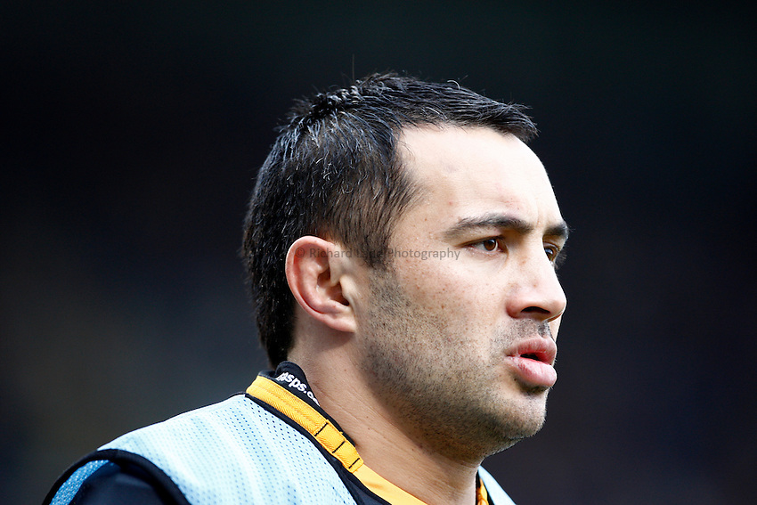 Photo: Richard Lane/Richard Lane Photography.  London Wasps v Stade Toulouse. Heineken Cup. 23/01/2011. Wasps' Riki Flutey.