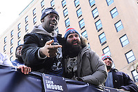 February 4, 2015 - Boston, Massachusetts, U.S. -  New England Patriots defensive end Chandler Jones (95) (left) and defensive end Rob Ninkovich (50) celebrate during a parade held in Boston to celebrate the team's victory over the Seattle Seahawks in Super Bowl XLIX. Eric Canha/CSM