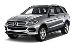 2017 Mercedes Benz GLE-Class GLE300d 5 Door SUV Angular Front stock photos of front three quarter view