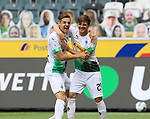 Jubel Jonas Hofmann (Borussia Moenchengladbach), re., und Florian Neuhaus (Borussia Moenchengladbach) nach dem 1:0<br /><br />27.06.2020, Fussball, 1. Bundesliga, Saison 2019/2020, 34. Spieltag, Borussia Moenchengladbach - Hertha BSC Berlin,<br /><br />Foto: Johannes Kruck/POOL / via / Meuter/Nordphoto<br />Only for Editorial use