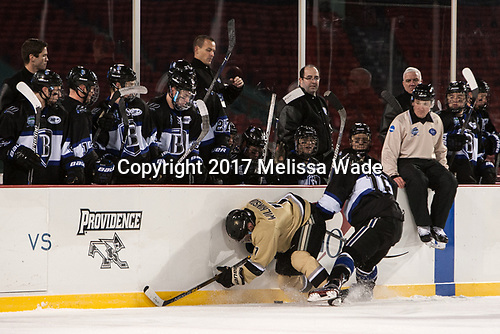 Alex Wilkinson (Army - 7), Max French (Bentley - 16) - The Bentley University Falcons defeated the Army West Point Black Knights 3-1 (EN) on Thursday, January 5, 2017, at Fenway Park in Boston, Massachusetts.The Bentley University Falcons defeated the Army West Point Black Knights 3-1 (EN) on Thursday, January 5, 2017, at Fenway Park in Boston, Massachusetts.