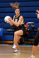 14.10.2016 Silver Ferns Grace Rasmussen in action at the Silver Ferns training at the Auckland Netball Centre in Auckland. Mandatory Photo Credit ©Michael Bradley.