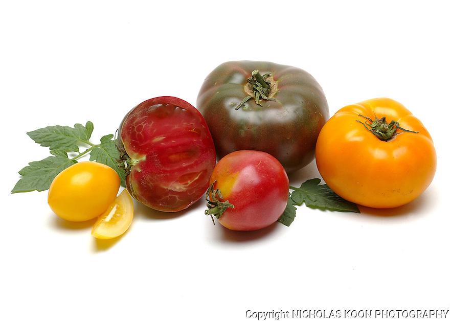 Heirloom Tomatoes still life.
