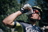 Michael Albasini (AUS/Orica-Scott) leveling fluid levels after finishing<br /> <br /> 104th Tour de France 2017<br /> Stage 5 - Vittel › La Planche des Belles Filles (160km)