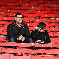 Lincoln City fans enjoy the pre-match atmosphere<br /> <br /> Photographer Andrew Vaughan/CameraSport<br /> <br /> The EFL Sky Bet League Two - Swindon Town v Lincoln City - Saturday 12th January 2019 - County Ground - Swindon<br /> <br /> World Copyright &copy; 2019 CameraSport. All rights reserved. 43 Linden Ave. Countesthorpe. Leicester. England. LE8 5PG - Tel: +44 (0) 116 277 4147 - admin@camerasport.com - www.camerasport.com